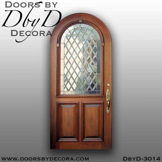 leaded glass old world door