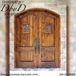 leaded glass double speakeasy doors