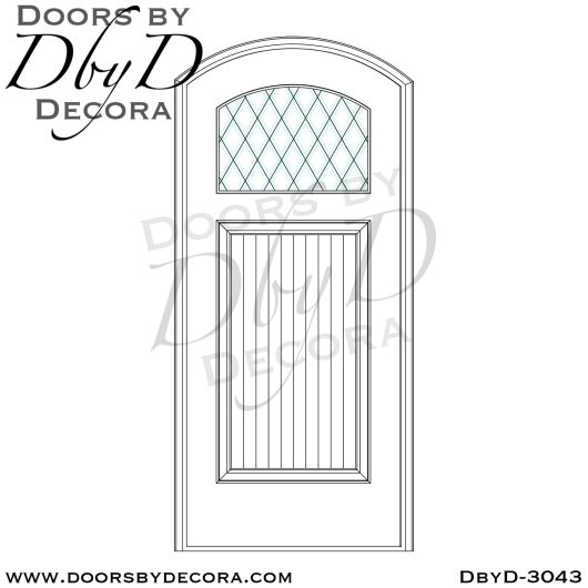 leaded glass segment top door