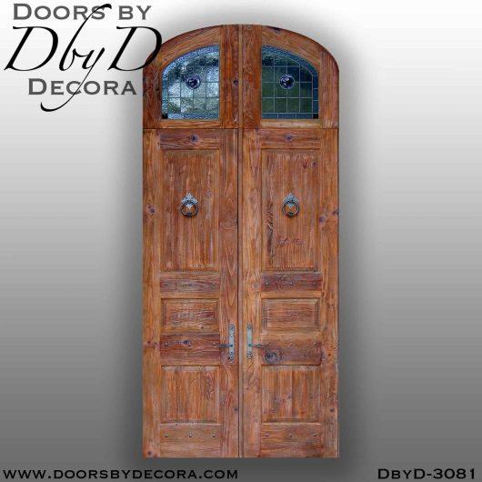 leaded glass rustic door