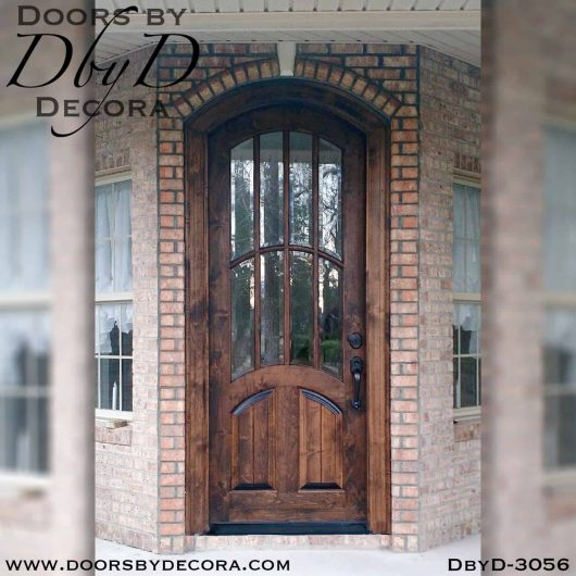 rustic arched tdl door