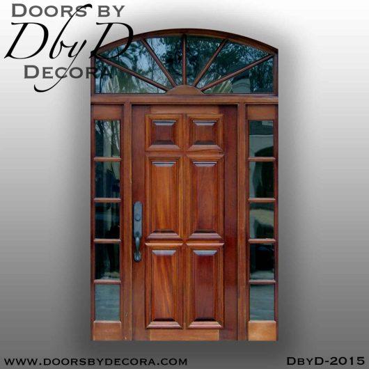solid door wood entry