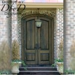 solid door v-groove doors