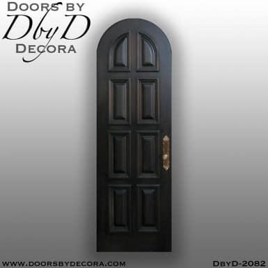 solid door radius interior door