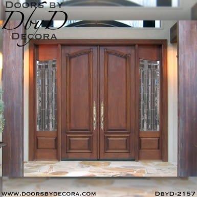 solid door double doors and sidelites