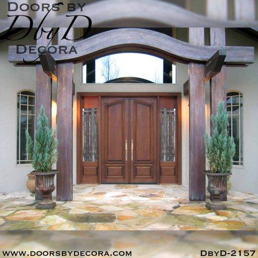 solid door double doors and sidelites