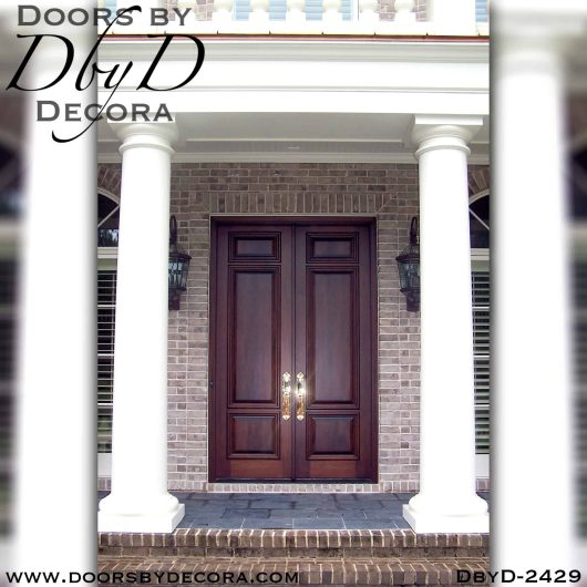 solid wood double doors