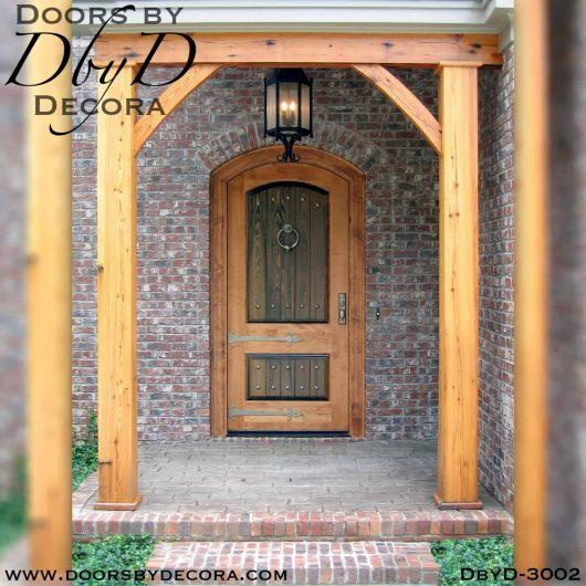 solid door rustic door
