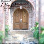 solid door double radius doors