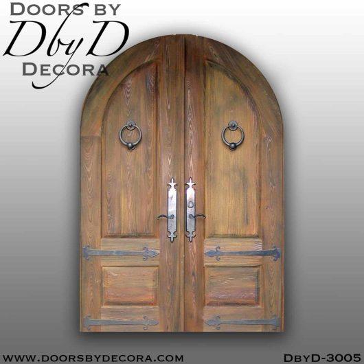 solid door double radius doors
