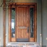 solid door v-groove door