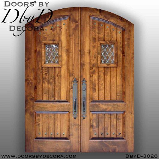 solid door double speakeasy doors
