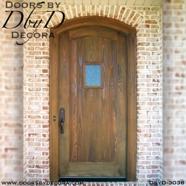 solid door distressed speakeasy