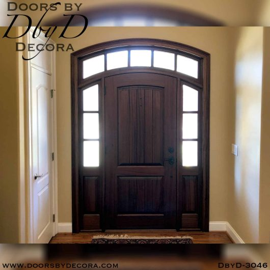 solid door with transom