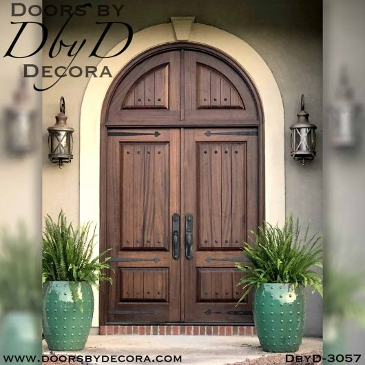 old world solid wood door