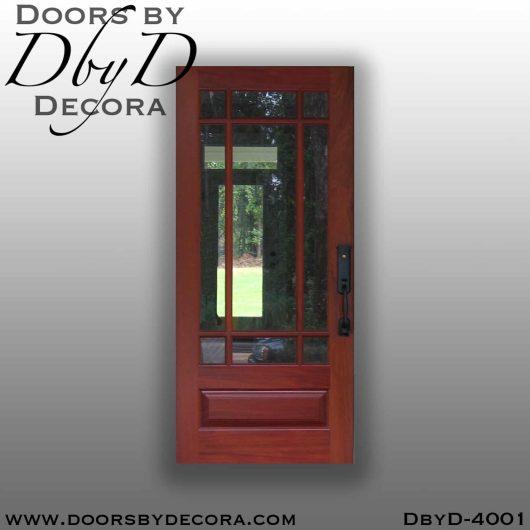 divided lite door with nine lites