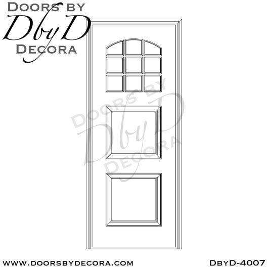 divided lite two panel tdl door