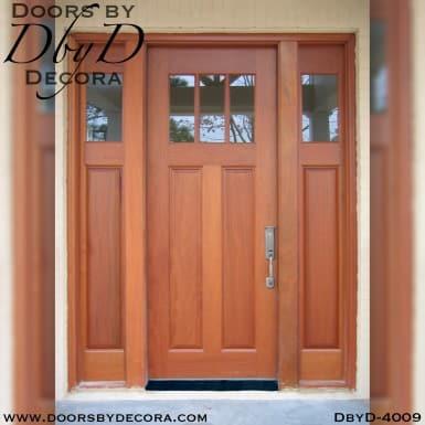 divided lite door and sidelites