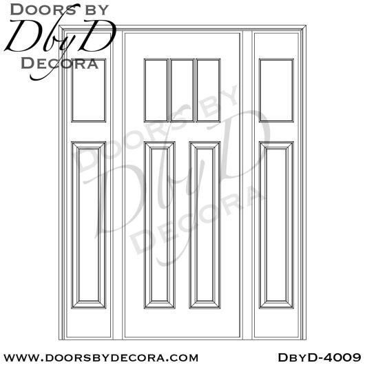 divided lite door and sidelites
