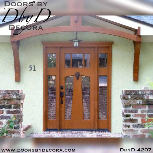 divided lite custom door and side lites