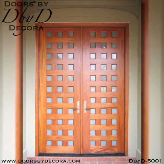 divided lite wood and glass double doors