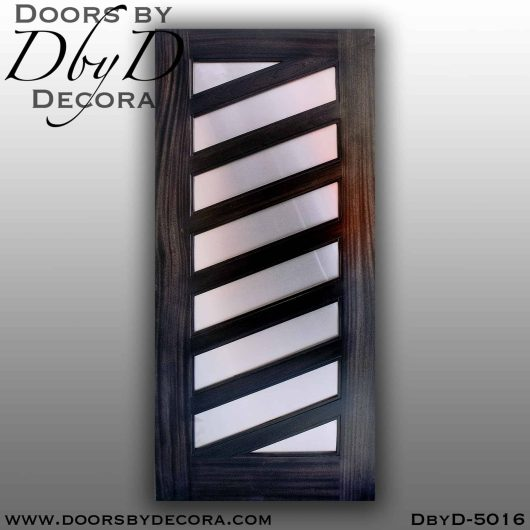 divided lite 8 panel stainless steel door