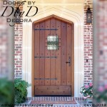 iron grill gothic arch plank door