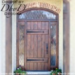 leaded glass plank door with side lites
