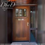 leaded glass frank lloyd wright door