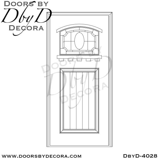 leaded glass door with pineapple glass