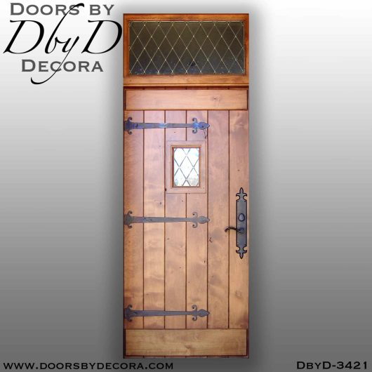 solid door plank door with speakeasy