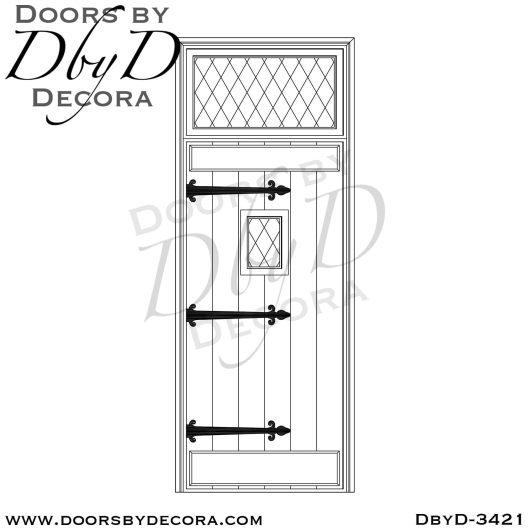 solid door plank door with speakeasy
