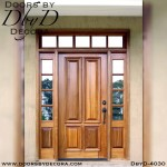 solid door four panel door