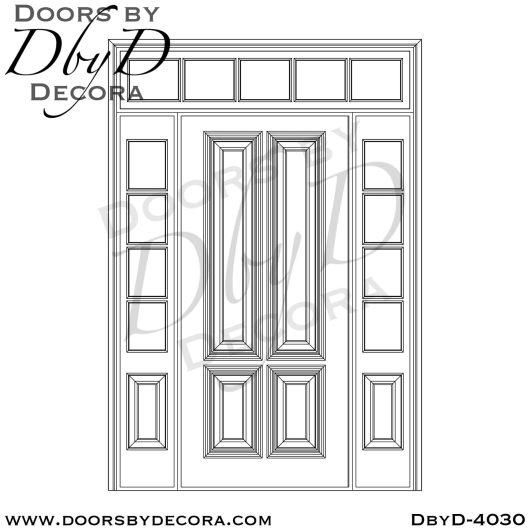 solid door four panel door