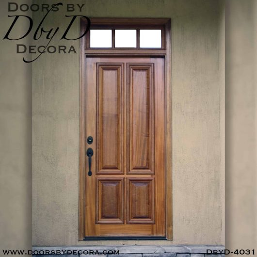 solid door four panel door with transom