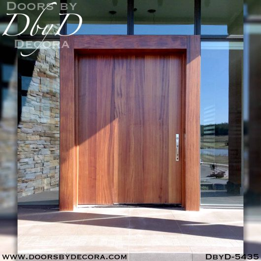 solid door wide wooden door