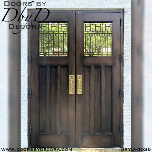 iron grill craftsman door