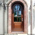 divided lite radius TDL door