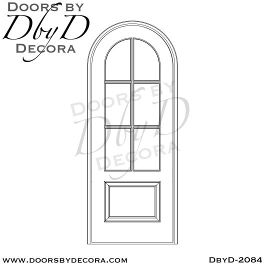 divided lite radius TDL door