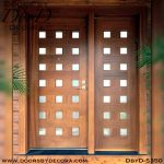 divided lite 21-lite wood door