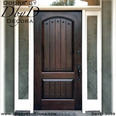 rustic two panel solid door