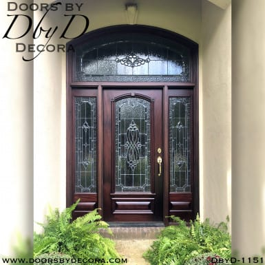 estate leaded glass traditional entry