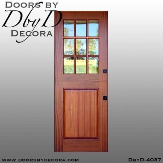 divided lite4037d - divided lite dutch door - Doors by Decora