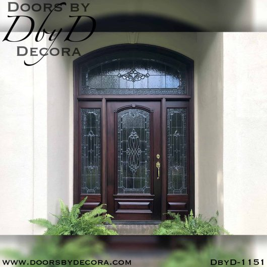 leaded glass traditional entry