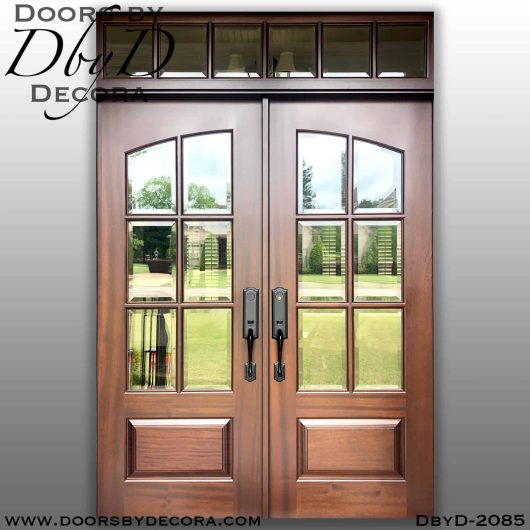 dbyd2085a - french country 6-lite tdl doors - Doors by Decora