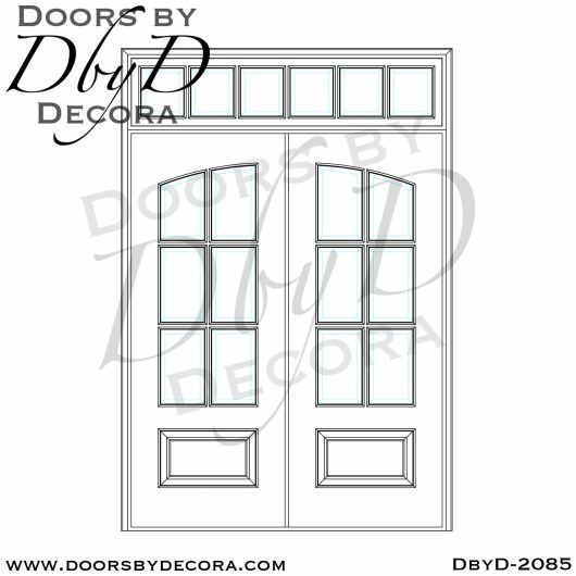french country 6-lite tdl doors