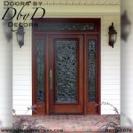 leaded glass beveled glass door
