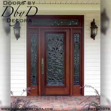 leaded glass beveled glass door