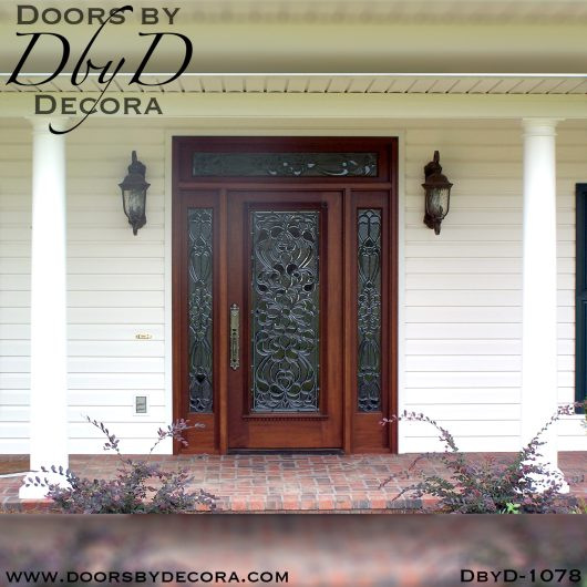leaded glass1078a - leaded glass beveled glass door - Doors by Decora