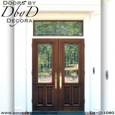 leaded glass front door entry